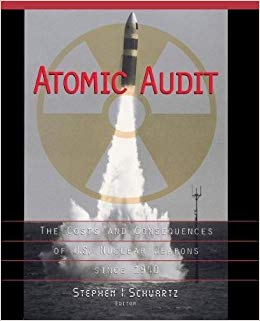 The cover of a book titled Atomic Audit