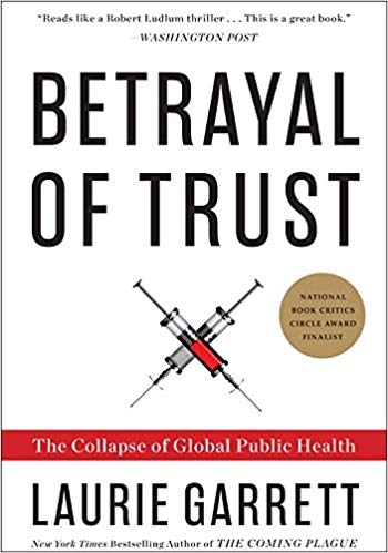Betrayal of Trust book cover by Laurie Garrett