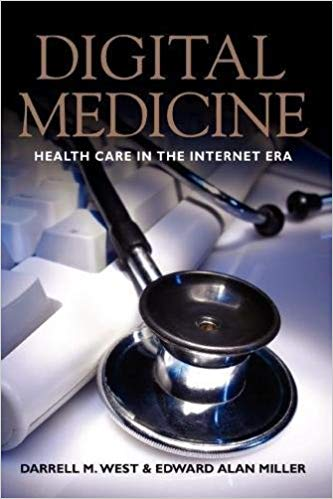 Digital Medicine Book Cover: Stethoscope and computer keyboard