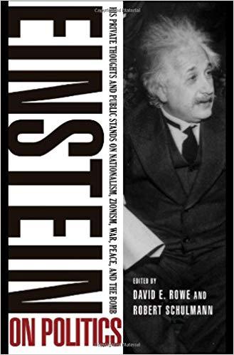 Einstein On Politics Book Cover with a photo of Albert Einstein