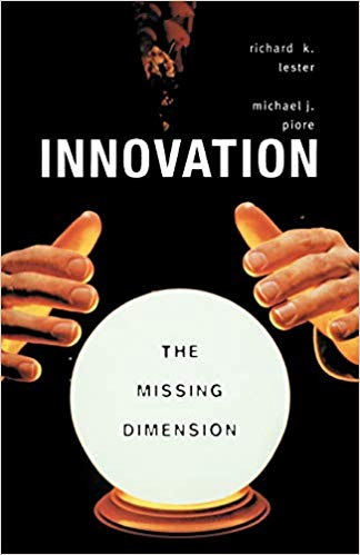 Innovation Book Cover with hands hovering over a crystal ball