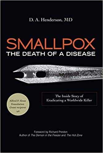 Smallpox book cover by D.A. Henderson