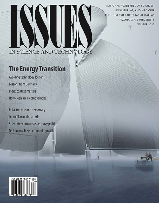 Issues Winter 2017 the energy transition cover