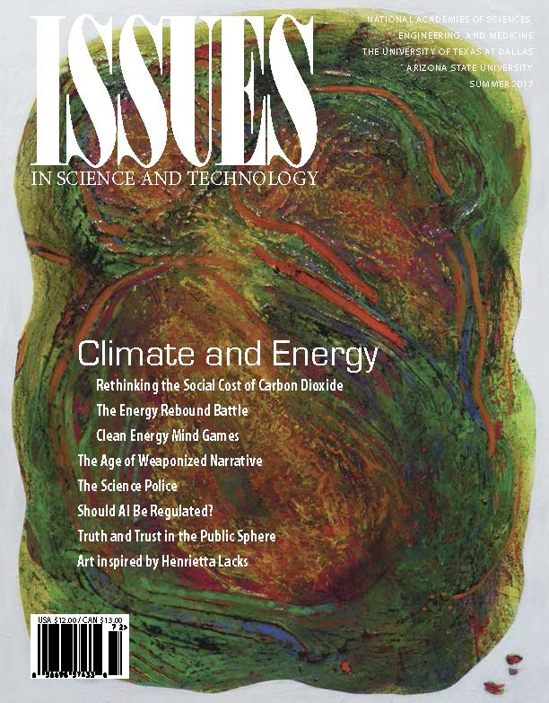 Issues Summer 2017 Climate and Energy Front Cover