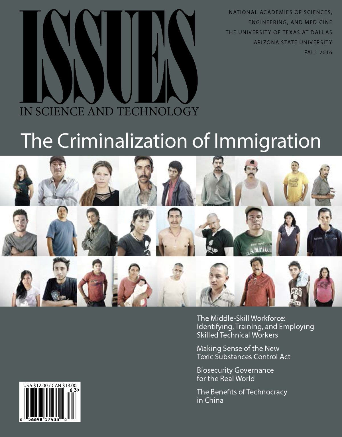 Issues Fall 2016 the criminalization of immigration cover