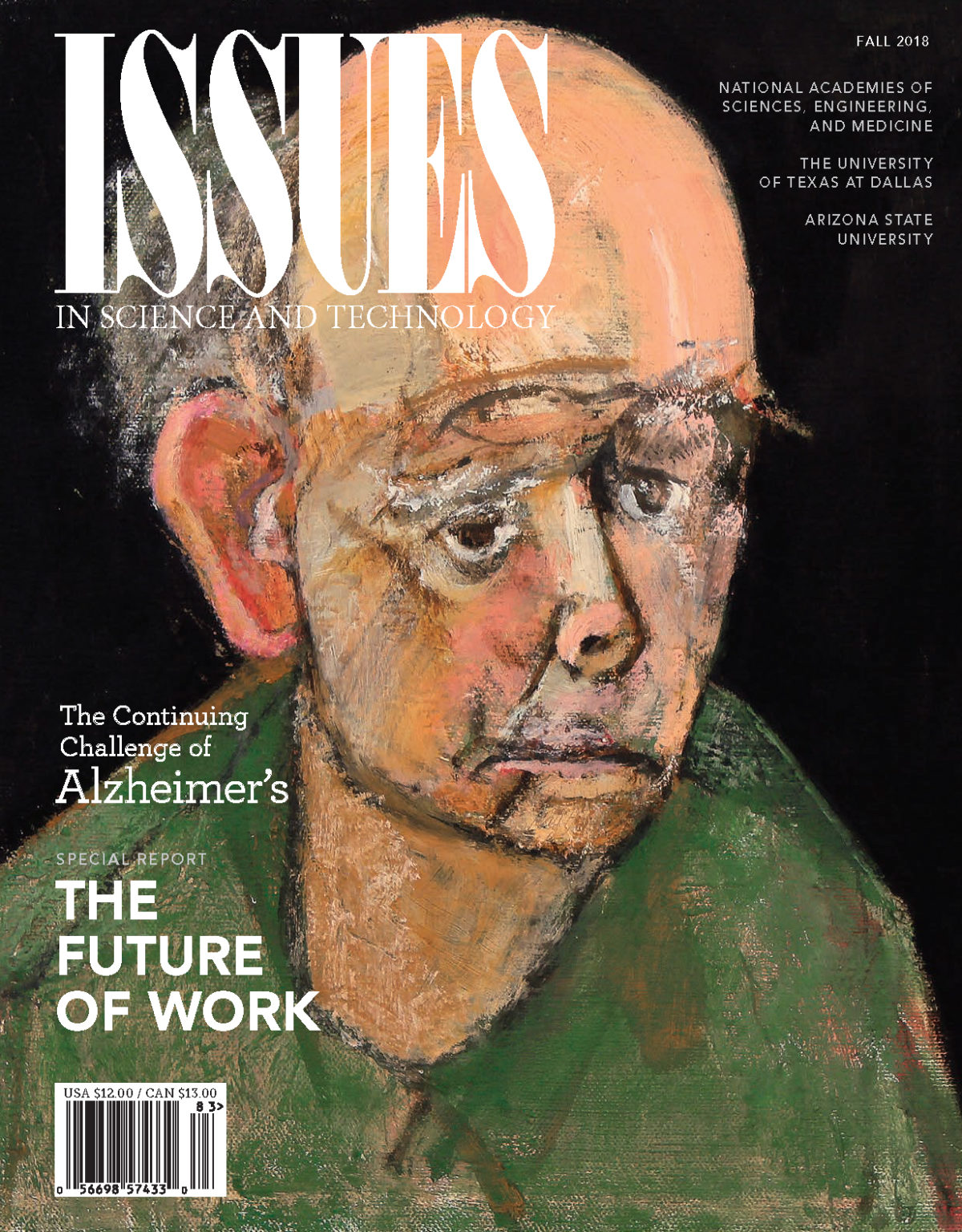 Magazine cover with an elderly man challenged by Alzheimer's
