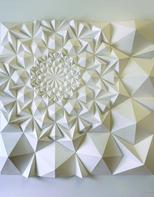 A geometric art piece