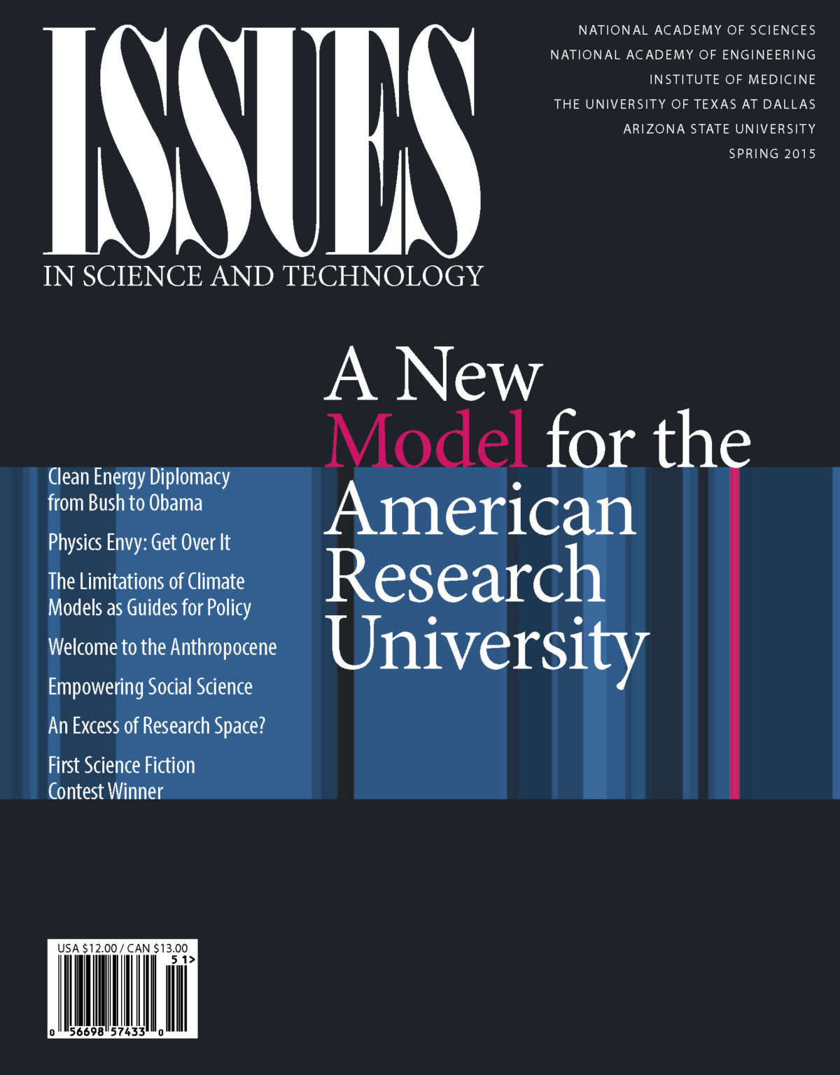 Issues Spring 2015 a new model for the American Research University cover