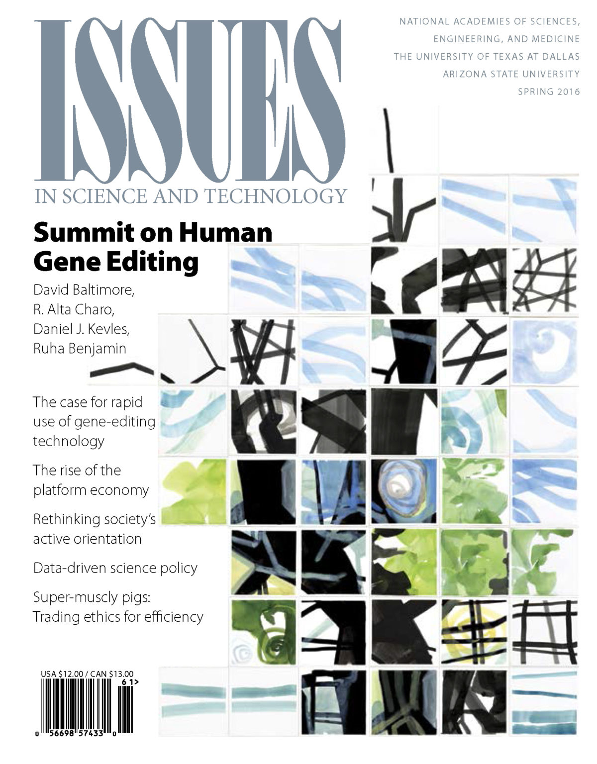 Issues Spring 2016 Summit on Human Gene edition cover