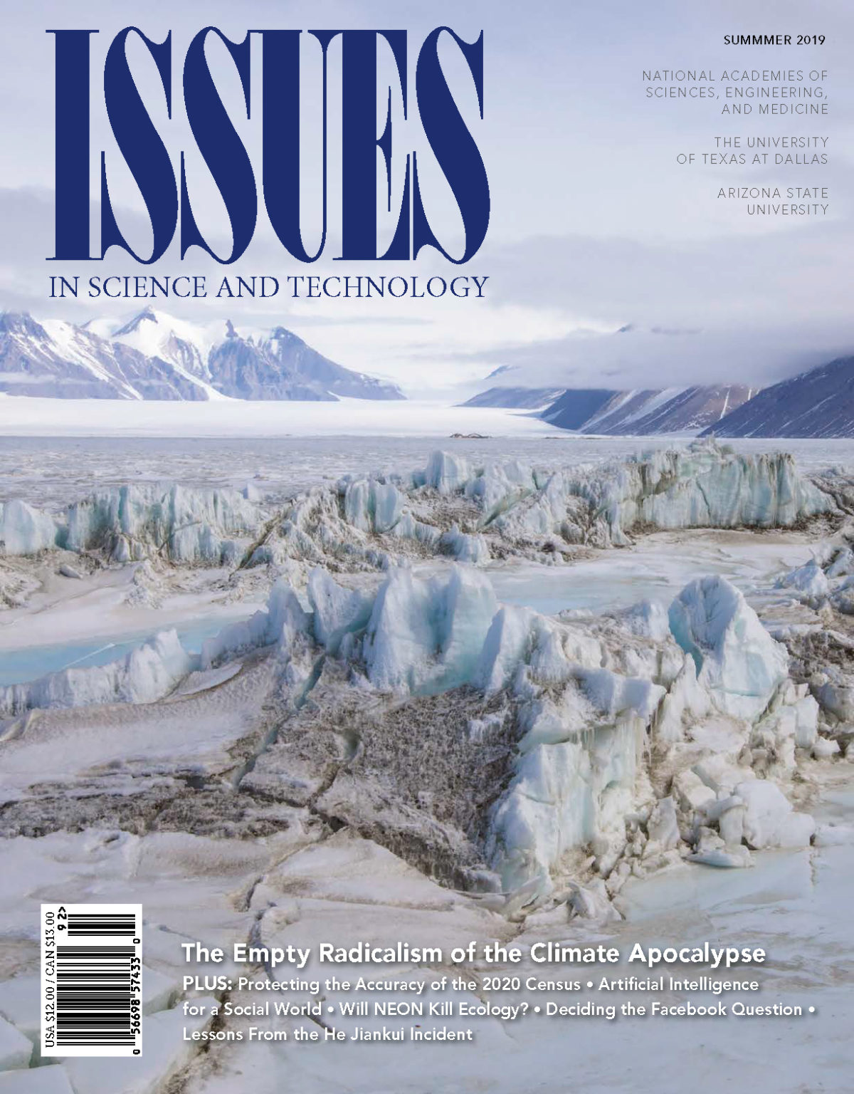 Cover of the Summer 2019 ISSUES IN SCIECE AND TECHNOLOGY