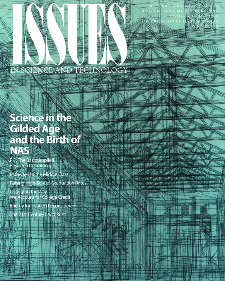 Issues Winter 2013 Science in the gilded ages cover