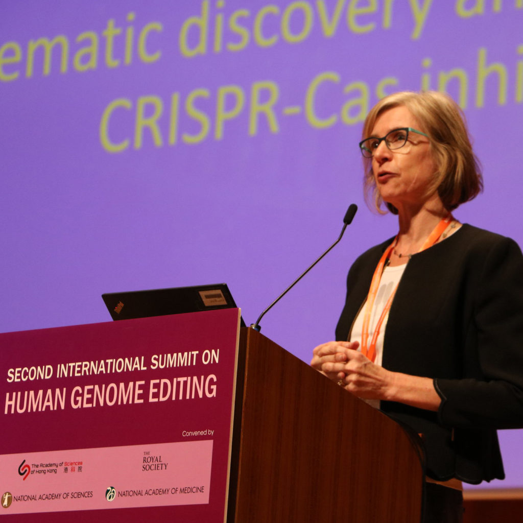 Jennifer Doudna speaks at the Second International Summit on Human Genome Editing
