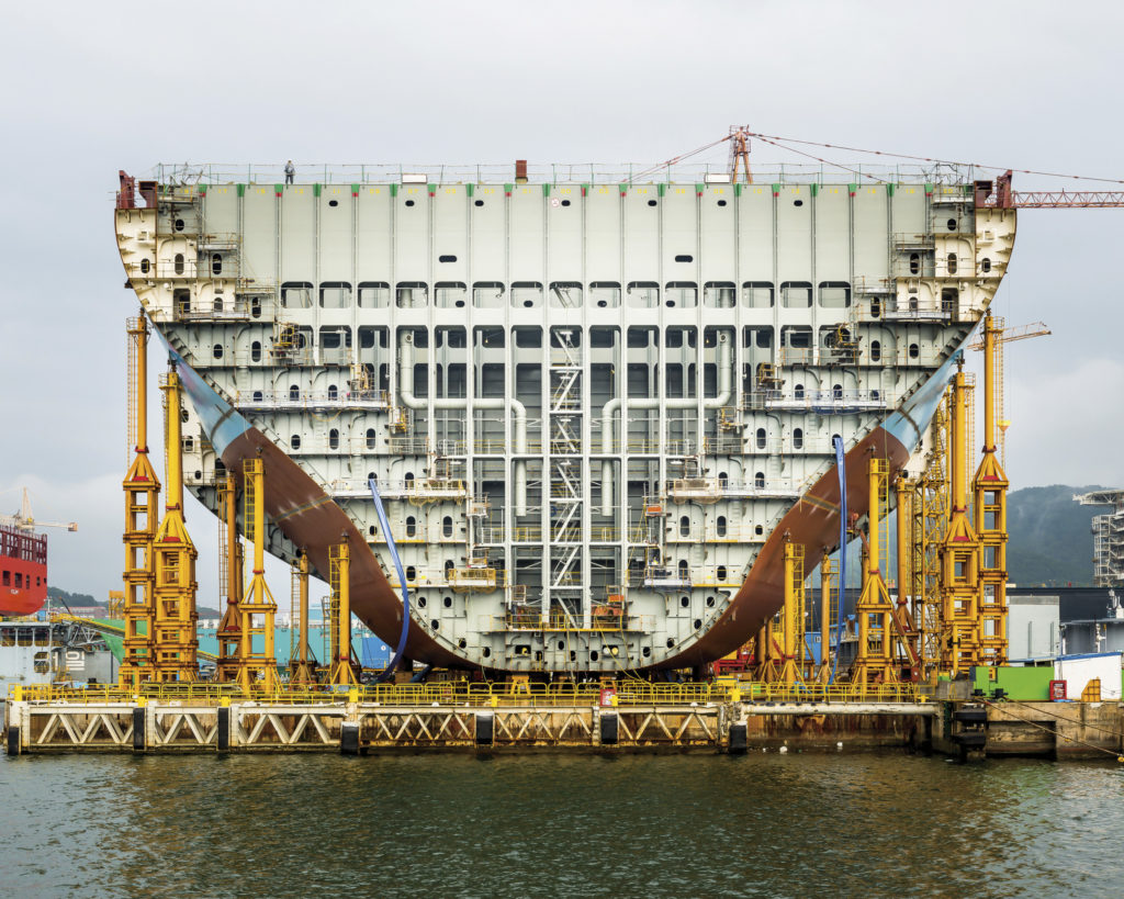 """Alastair Philip Wiper, """"Maersk Triple E Container Ship Under Construction"""""""
