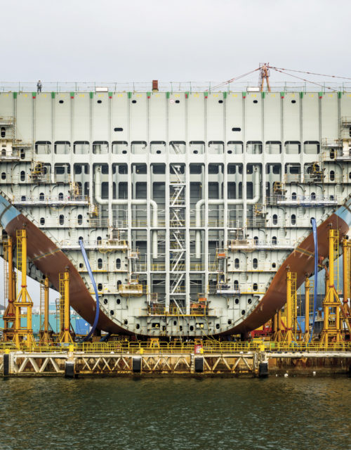 "Alastair Philip Wiper, ""Maersk Triple E Container Ship Under Construction"""