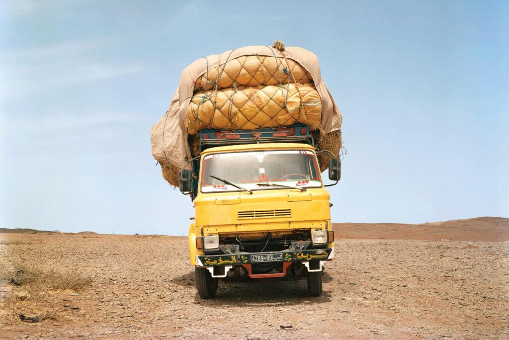 Truck in the desert of Morocco