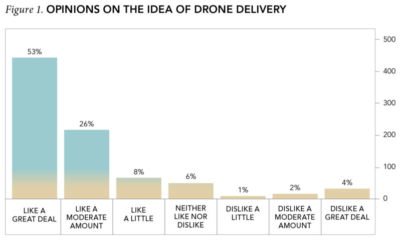 Figure 1. Opinions on the Idea of Drone Delivery