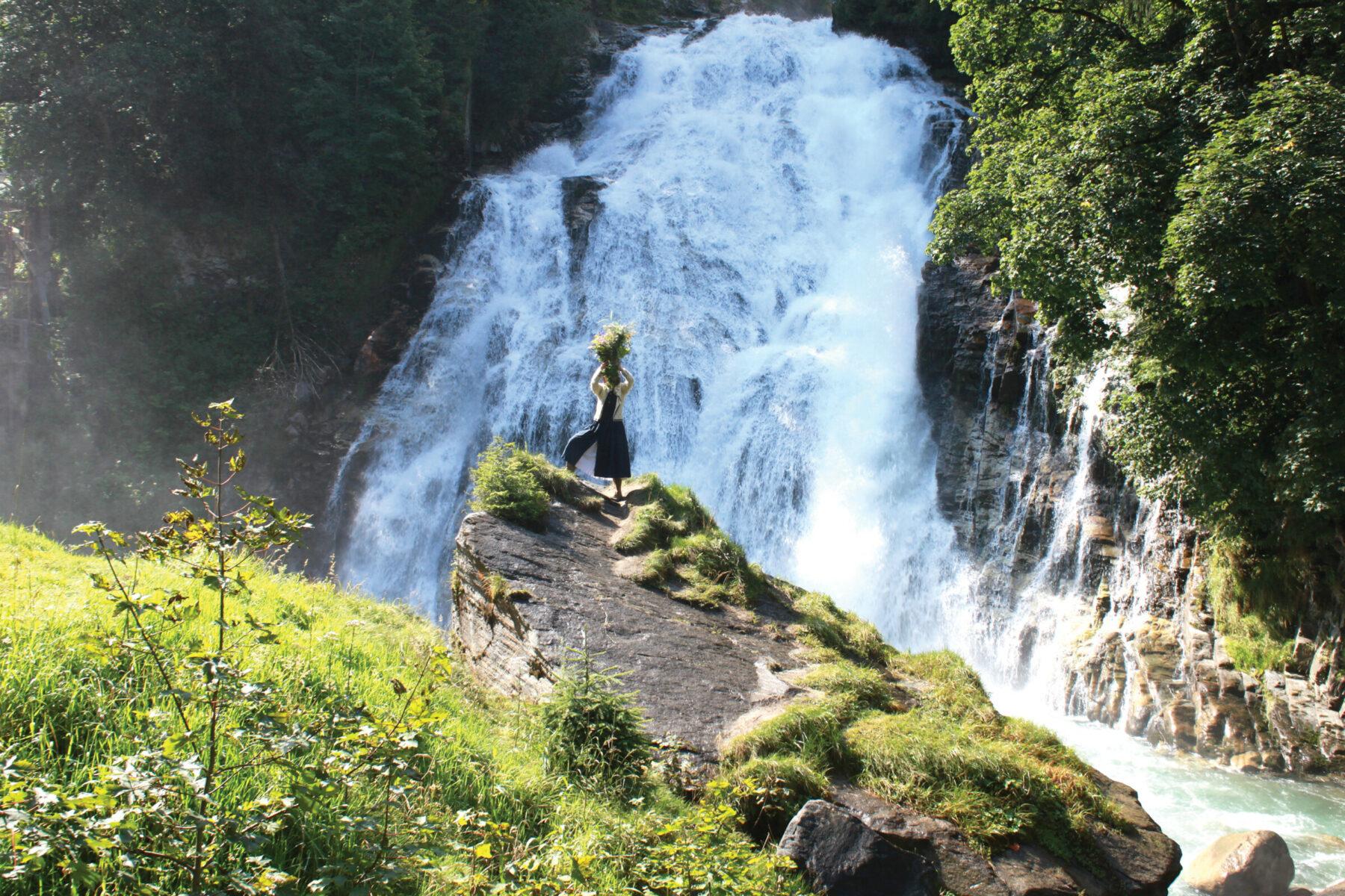 "Linda Troeller, ""Radon Waterfall, Bad Gastein, Austria"" (2015)"